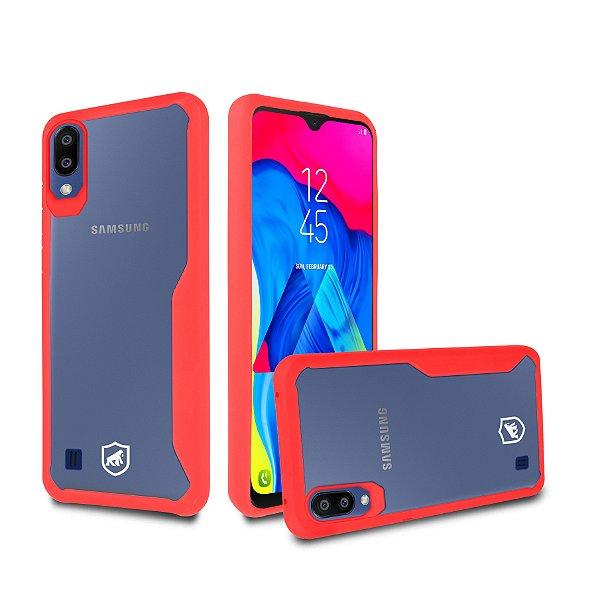 Capa Atomic para Samsung Galaxy M10 - Vermelha - Gorila Shield