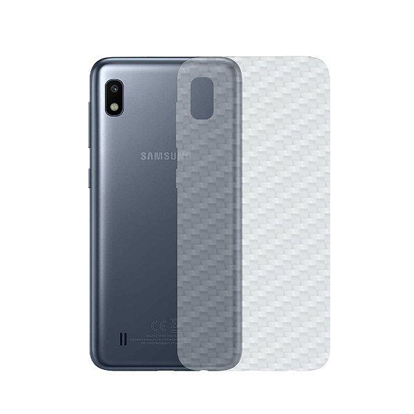Película Traseira de Fibra de Carbono Transparente para Samsung Galaxy A10 - Gshield