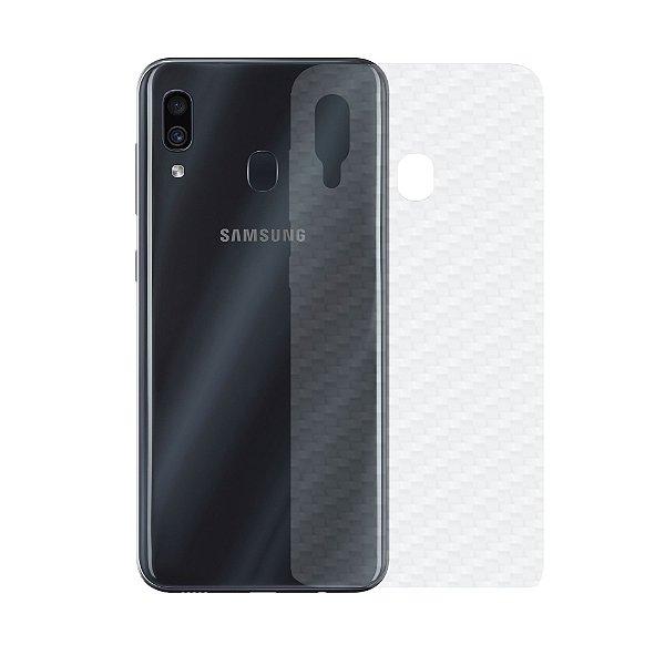 Película Traseira de Fibra de Carbono Transparente para Samsung Galaxy A20 - Gorila Shield