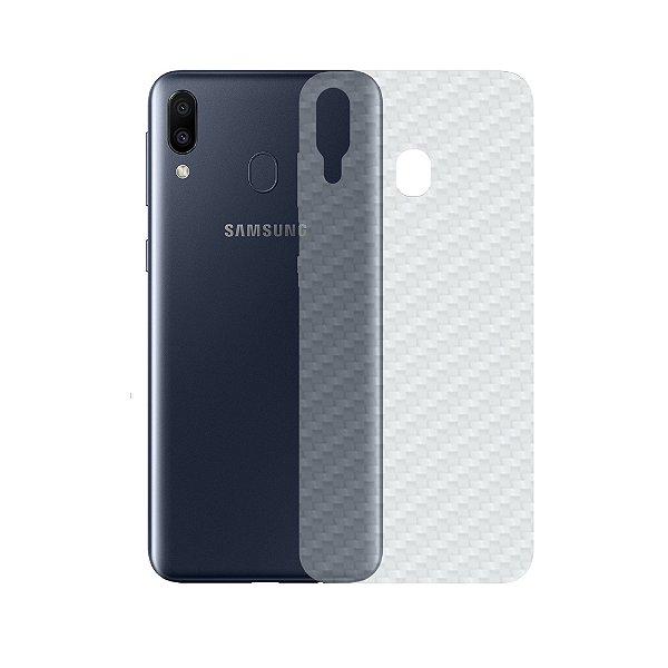 Película Traseira de Fibra de Carbono Transparente para Samsung Galaxy M20 - Gshield