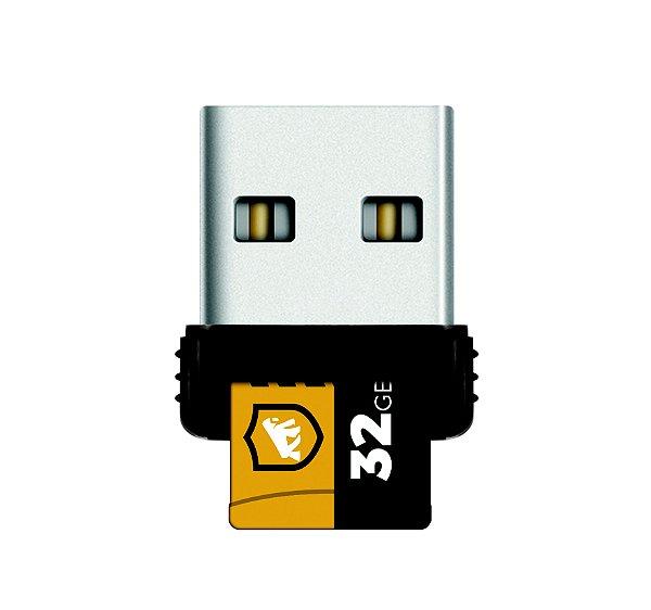 Cartão de Memória Turbo 32GB U1 + Adaptador Pendrive Nano Slim + Adaptador SD- Gshield