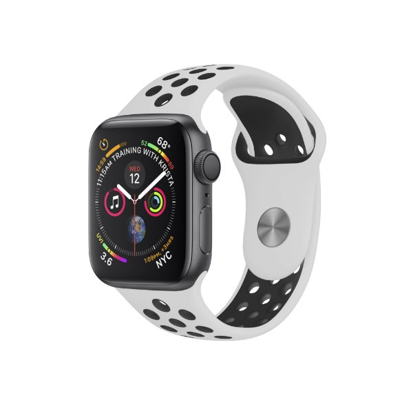 Pulseira para Apple Watch 42mm /44mm Armor Running - Branco e Preto - Gshield