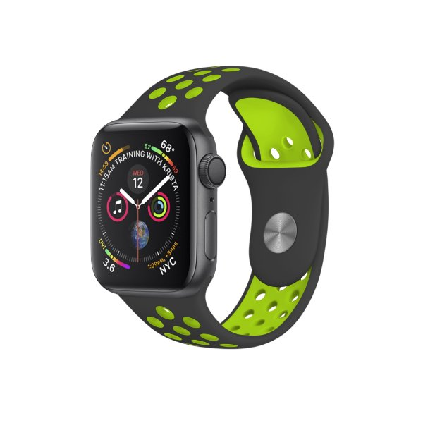 Pulseira para Apple Watch 42mm Armor Running - Preto e Verde - Gorila Shield
