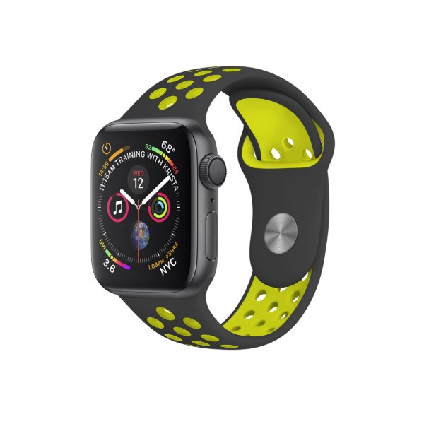 Pulseira para Apple Watch 42mm Armor Running - Preto e Verde limão - Gorila Shield