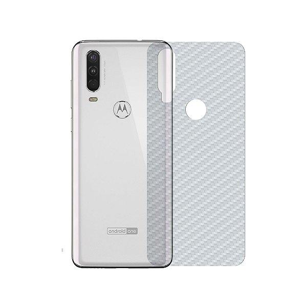 Película Traseira de Fibra de Carbono Transparente para Motorola One Action - Gshield
