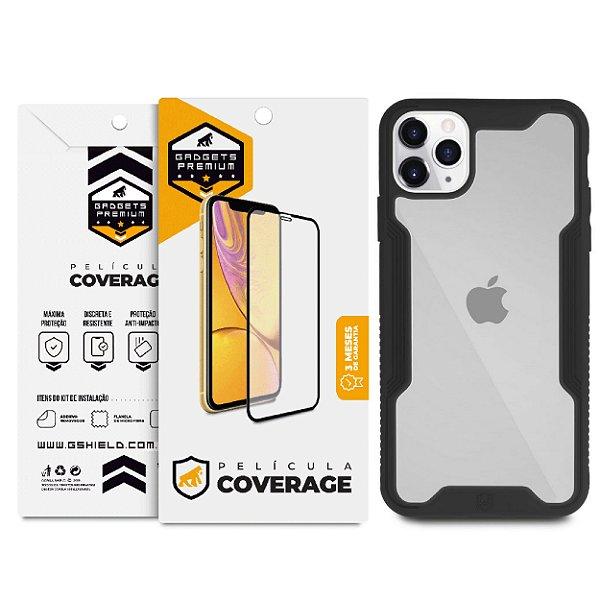 Kit Capa Dual Shock e Película Coverage Color para iPhone 11 Pro - Gshield
