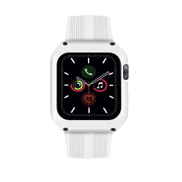 Pulseira Dual Shock Para Apple Watch 44mm - Branca - Gshield