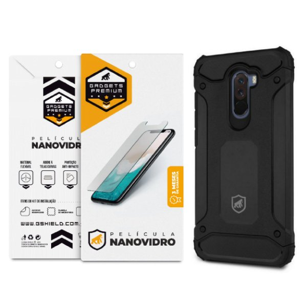 Kit Capa D-Proof e Película de Nano Vidro para Xiaomi Pocophone F1 - GShield