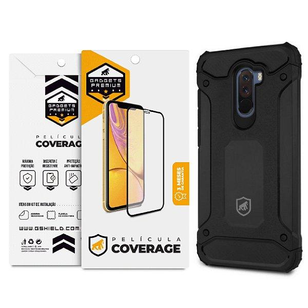 Kit Capa D-Proof e Película Coverage Color para Pocophone F1 - GShield