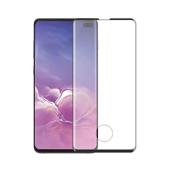 Película Coverage Color de Vidro para Samsung Galaxy S10 Plus - Preta - GShield
