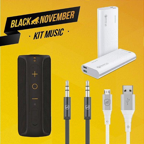 Kit Music I - Micro USB V8 - Black November - Gshield