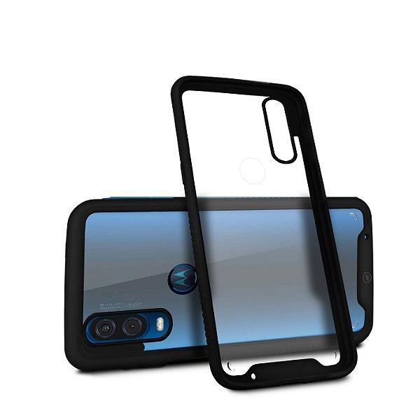 Capa Stronger Preta para Motorola One Vision - Gshield