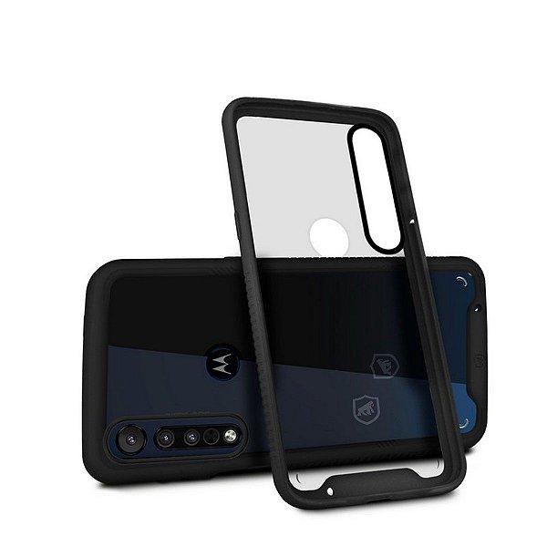 Capa Stronger Preta para Motorola One Macro - Gshield