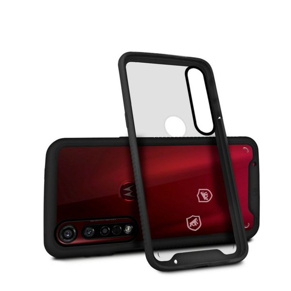 Capa Stronger Preta para Motorola Moto G8 Plus - Gshield
