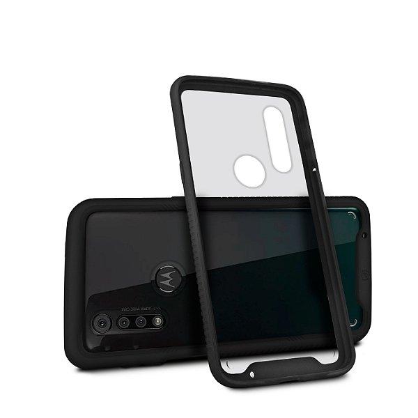 Capa Stronger Preta para Motorola Moto One Action - Gshield