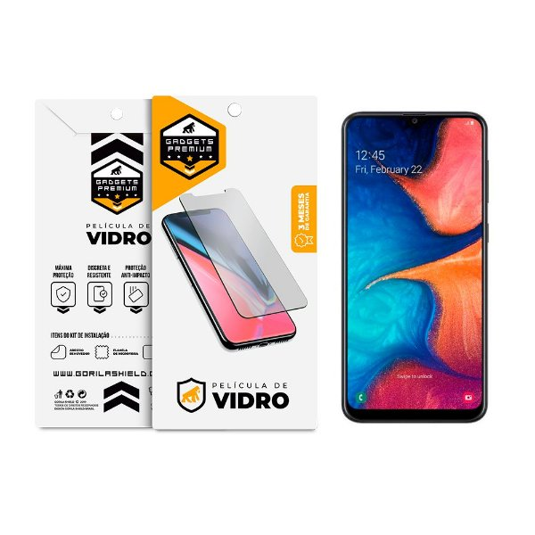Película de Vidro Dupla para Samsung Galaxy A20s - Gshield