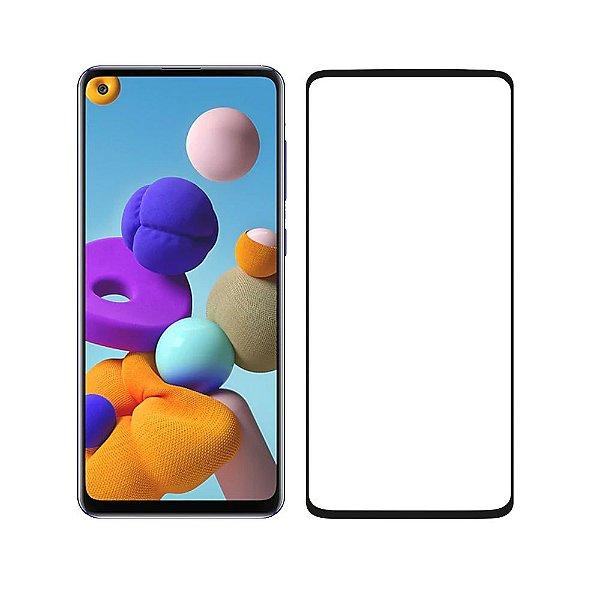 Película Coverage 5D Pro Preta Para Samsung Galaxy A21s - Gshield