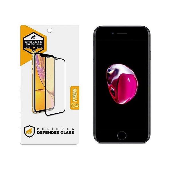 Película Defender Glass Para iPhone 7 - Preta - Gshield