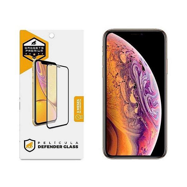 Película Defender Glass Para iPhone X - Preta - Gshield