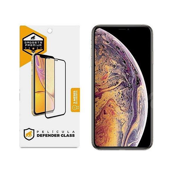Película Defender Glass Para iPhone XS Max - Preta - Gshield