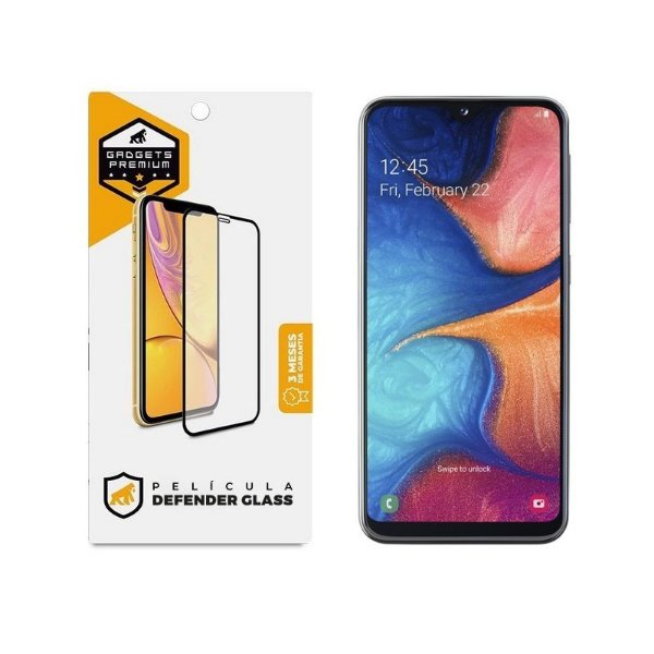 Película Defender Glass Para Samsung Galaxy A20 - Preta - Gshield