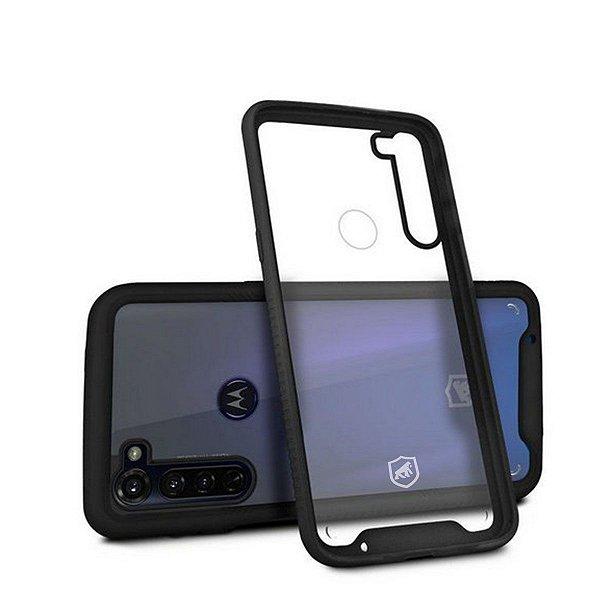 Capa Stronger Preta Para Motorola Moto G8 - Gshield
