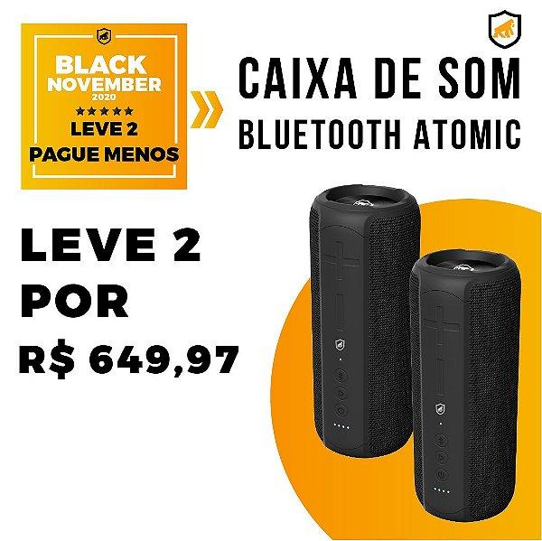 Caixa De Som Bluetooth Atomic - Black November - Gshield