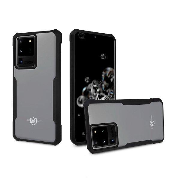 Capa Dual Shock X Preta Para Samsung Galaxy S20 Ultra - Gshield
