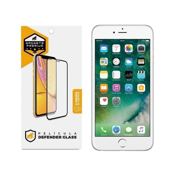 Película Defender Glass para iPhone 6 e 6S - Branca - Gshield