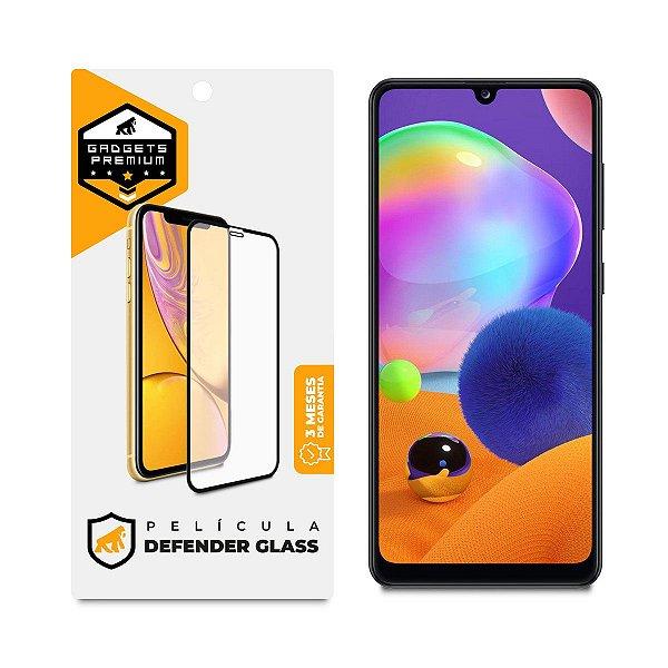 Película Defender Glass para Samsung Galaxy A31 - Preta - Gshield