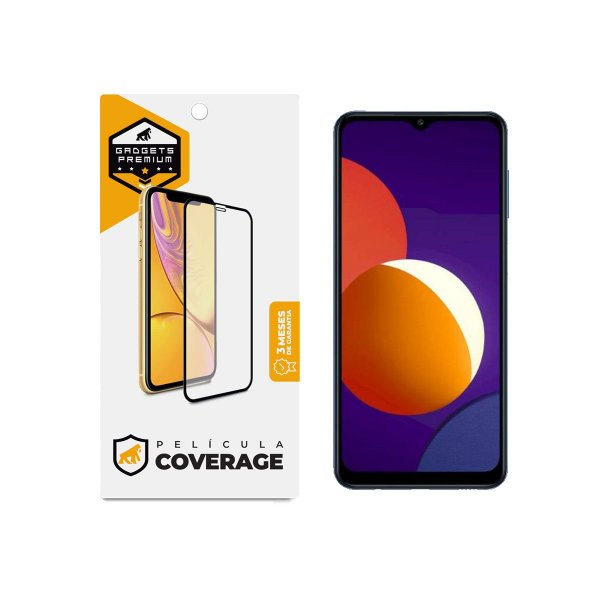 Película Coverage 5D Pro Preta para Samsung Galaxy M12 / F12 - Gshield
