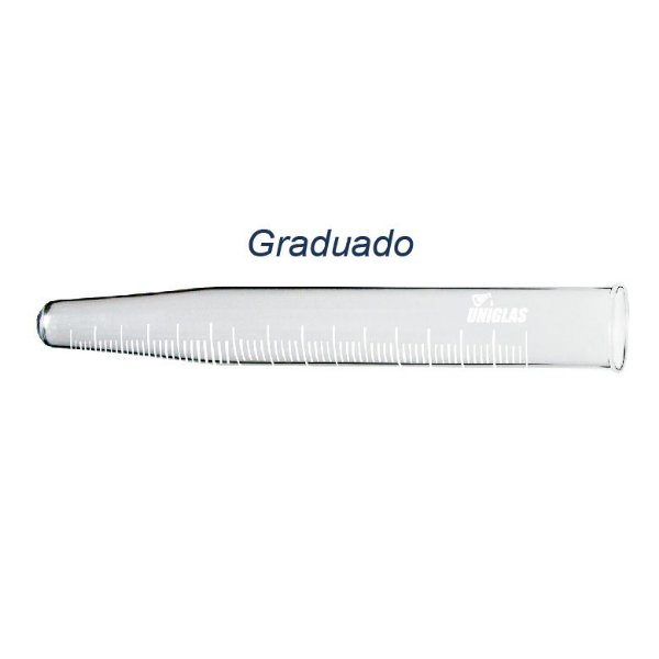 TUBO DE VIDRO PARA CENTRIFUGA 10ML GRADUADO FUNDO CONICO
