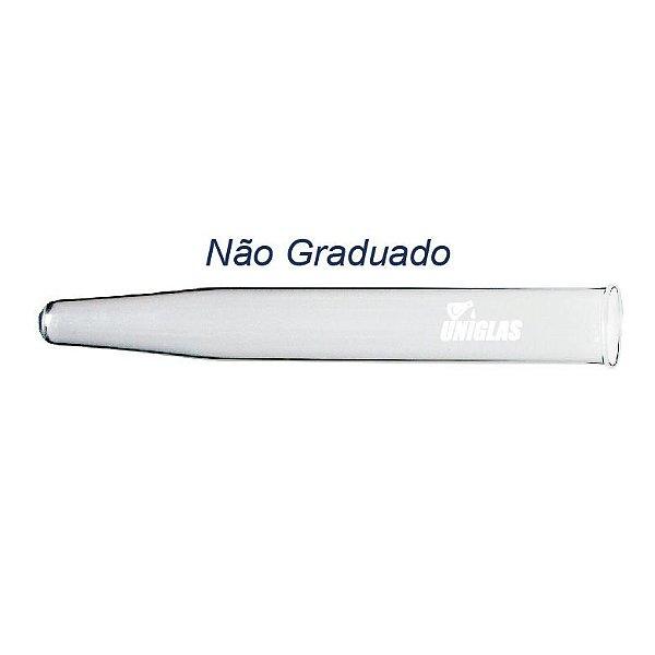 TUBO DE VIDRO PARA CENTRIFUGA 15ML SEM GRADUACAO FUNDO CONICO