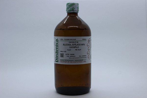 ALCOOL ETILICO 95% 1L UV/HPLC ESPECTROSCOPICO