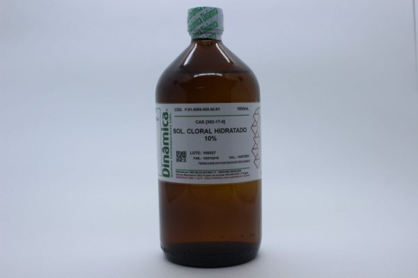 SOLUCAO CLORAL 10% HIDRATADA 1L