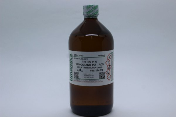 ISO OCTANO TRIMETILPENTANO 2,2,4 PA 99% 1L