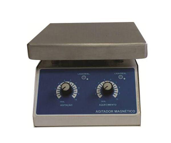 AGITADOR MAGNETICO COM AQUECIMENTO 12L 2000RPM 220V 18X18CM