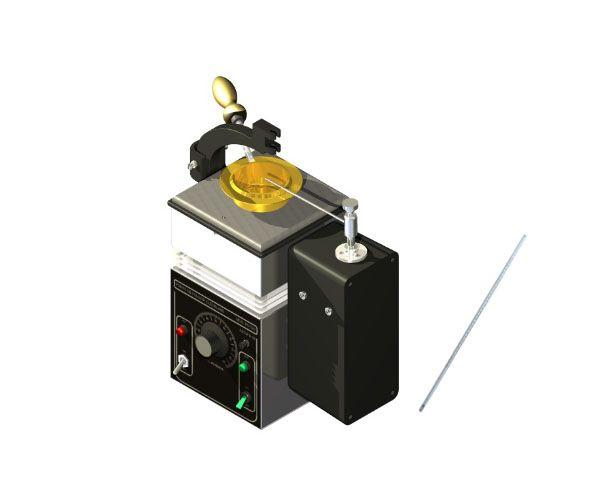 PONTO DE FULGOR CLEVELAND VASO ABERTO SEMI AUTOMATICO 220V COM COMANDO DE CHAMA E TERMOMETRO ASTM CONFORME ASTM D-92