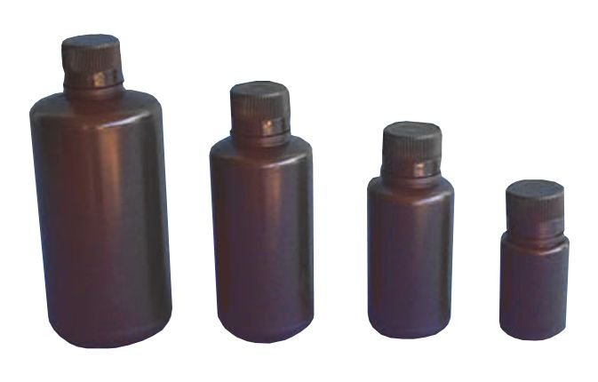 FRASCO DE PLASTICO (PE) AMBAR 250ML