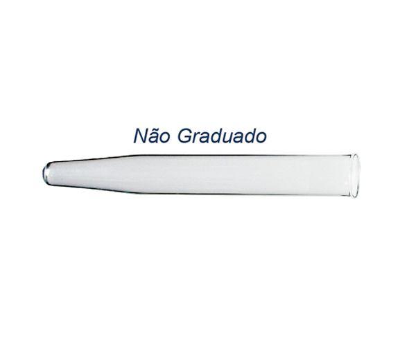 TUBO DE VIDRO PARA CENTRIFUGA 50ML SEM GRADUACAO FUNDO CONICO