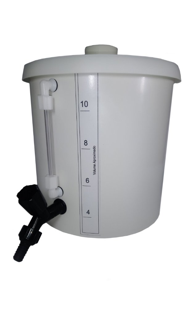 BARRILETE DE PLASTICO (PP) 30L COM TORNEIRA