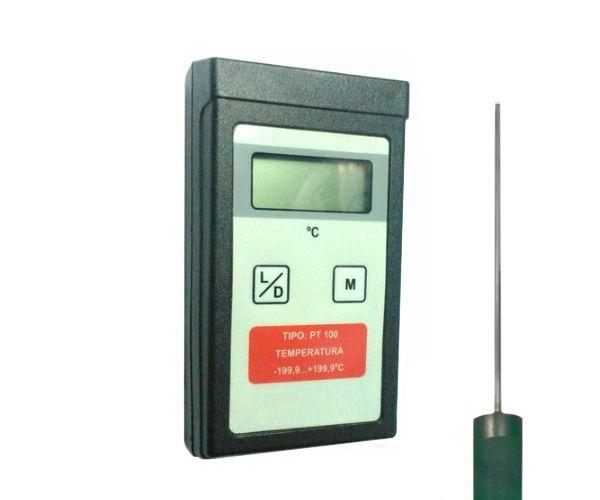 TERMOMETRO DIGITAL -199,9+199,9ºC COM SONDA DE IMERSAO 3X300MM TIPO PT 100 1MT