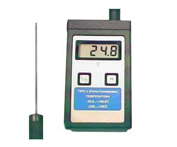 TERMOMETRO DIGITAL -40+700ºC COM SONDA DE IMERSAO 3X150MM TIPO J 1MT