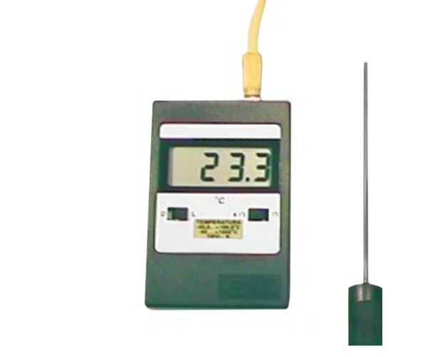 TERMOMETRO DIGITAL -40+1000ºC COM CHAVE E SONDA DE IMERSAO 3X250MM TIPO K 1MT