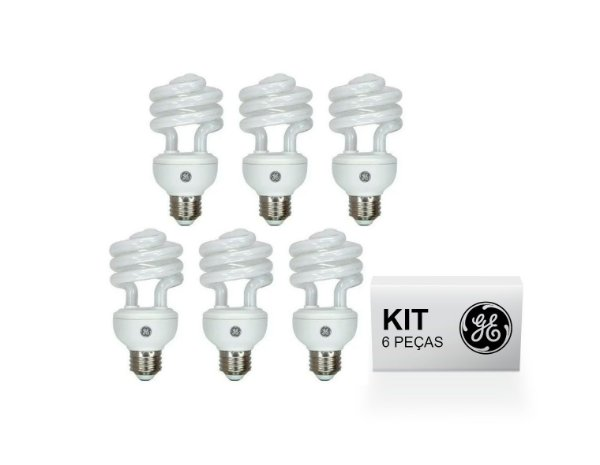 KIT 6 Lâmpadas Fluor. Compacta EL 18W 6.500K (Luz Branca) SPIRAL