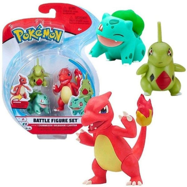 Pokémon 3 Figuras De Ação Sortidas Charmeleon