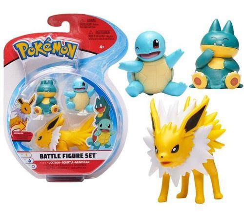 Pokémon 3 Figuras De Ação Sortidas Jolteon