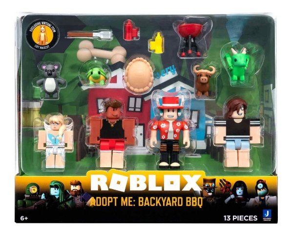 Roblox Pack Com 4 Figuras - Churrasco No Quintal