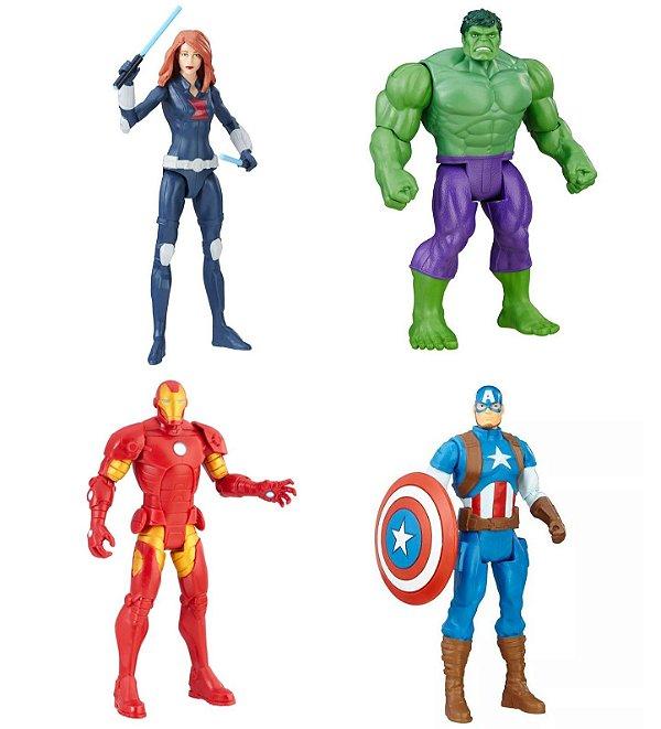 Boneco Articulado Marvel Avengers 15cm - Pack Com 4