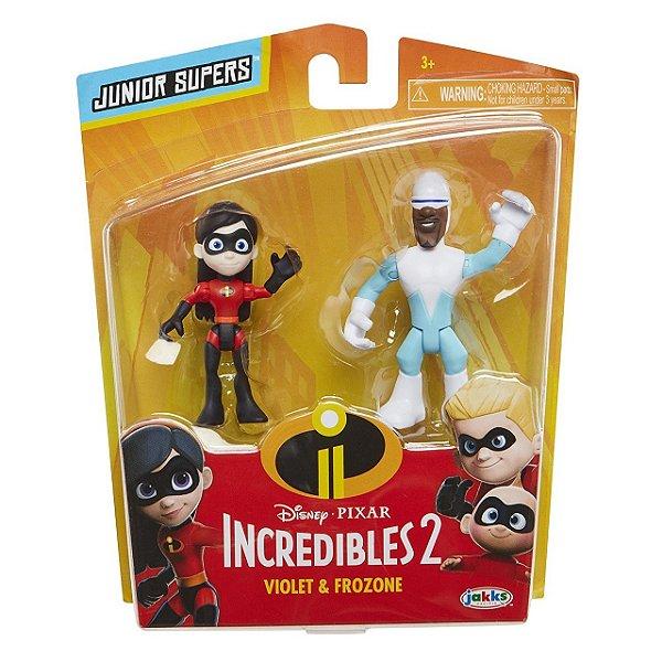 """Os Incríveis 2 - Minifiguras de 3"""" Violeta e Gelado"""